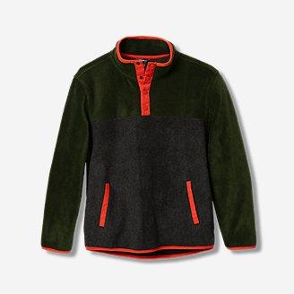 Boys' Quest Fleece Snap-Neck Pullover - Color Block in Green