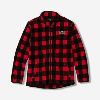 Boys' Quest Fleece Full-Zip Jacket - Pattern in Red