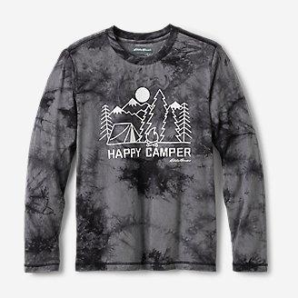 Boys' Favorite Long-Sleeve T-Shirt - Tie-Dye in Gray