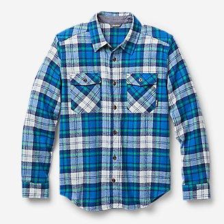 Boys' Eddie's Favorite Flannel Shirt - Print in Blue