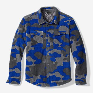 Boys' Chutes Microfleece Shirt Jac in Green