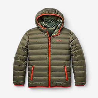 Boys' CirrusLite Reversible Down Hooded Jacket in Green