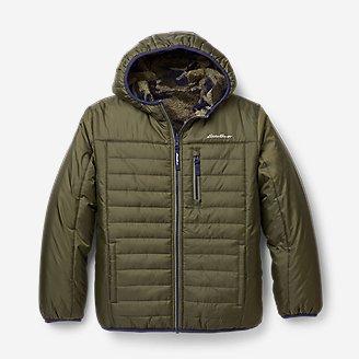 Boys' Deer Harbor Reversible Hooded Jacket in Green