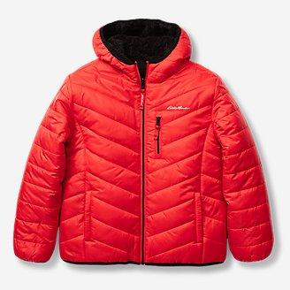 Boys' Deer Harbor Reversible Hooded Jacket in Red
