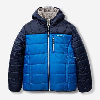 Boys' Deer Harbor Reversible Hooded Jacket - Color Block in Blue