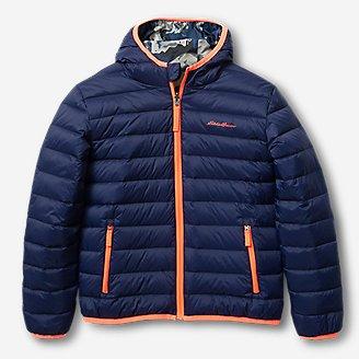 Boys' Cirruslte Reversible Down Hooded Jacket in Blue