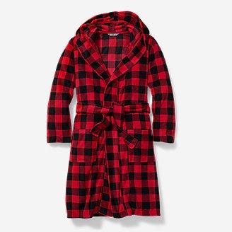 Boys' Quest Fleece Robe in Red