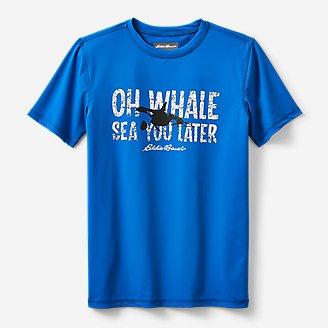 Boys' Sea Spray Short-Sleeve Rashguard T-Shirt in Blue