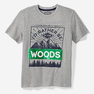 Boys' Spring Flip Sequin Short-Sleeve T-Shirt in Gray