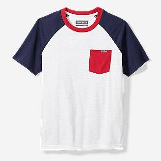 Boys' Territory Short-Sleeve Pocket T-Shirt in White