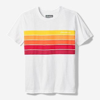 Boys' Leeward Short-Sleeve T-Shirt - Chest Stripe in White