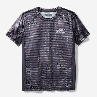 Boys' Boulder Peak Performance Panel T-Shirt in Gray