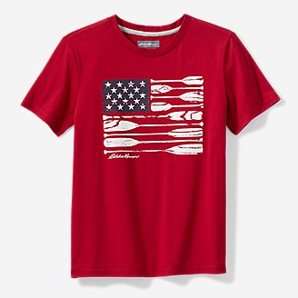 Boys' Americana T-Shirt in Red