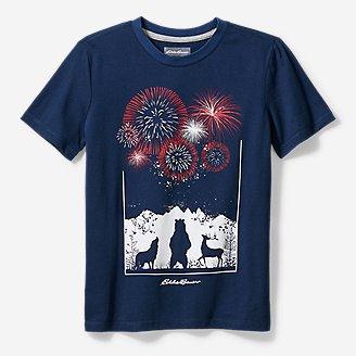 Boys' Americana T-Shirt in Blue