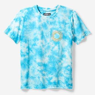 Boys' Summer Graphic T-Shirt - Tie Dye in Blue