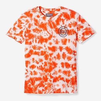 Boys' Summer Graphic T-Shirt - Tie Dye in Orange