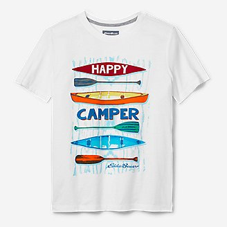 Boys' Summer Graphic T-Shirt in White
