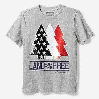 Boys' Americana Flip Sequin T-Shirt in Gray