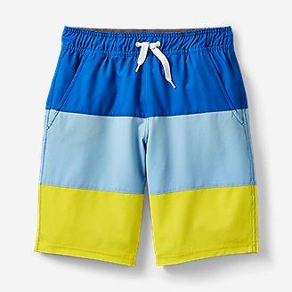 Boys' Sea Spray Swim Shorts - Color Block in Blue