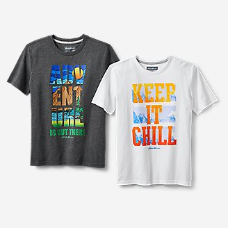 Boys' Graphic T-Shirt Bundle in Gray