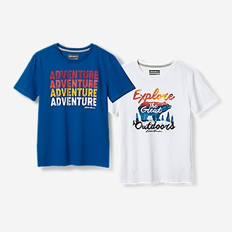 Boys' Graphic T-Shirt - 2-Pack in Blue