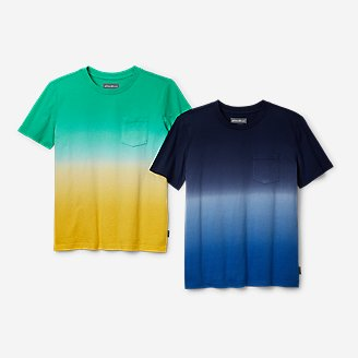 Boys' Territory Short-Sleeve Pocket T-Shirt - Ombré in Green