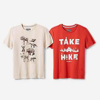 Boys' Short-Sleeve Graphic T-Shirt - 2-Pack in Red