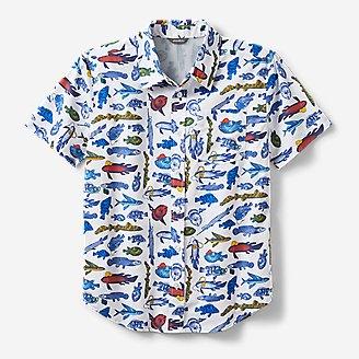 Boys' On The Go Short-Sleeve Poplin Shirt in White