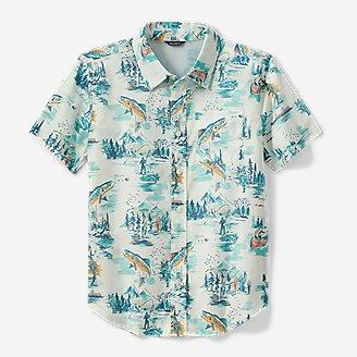 Boys' Summer On The Go Short-Sleeve Poplin Shirt in Beige