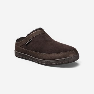 Men's Shearling Scuff Slipper in Brown