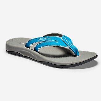 Women's Break Point Flip Flop in Blue