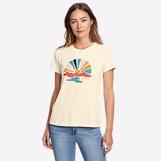 Women's Graphic T-Shirt - Sunbeam in White