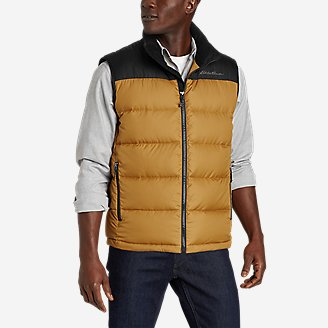 Men's Classic Down Vest in Yellow