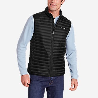 Men's Microlight Down Vest in Black