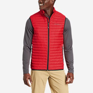 Men's Microlight Down Vest in Red