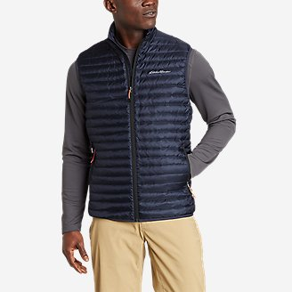 Men's Microlight Down Vest in Blue