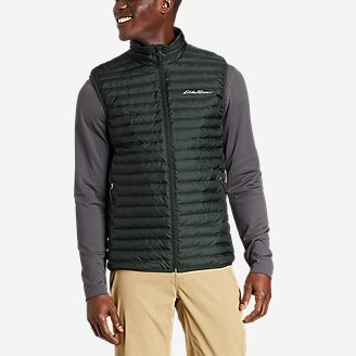 Men's Microlight Down Vest in Green