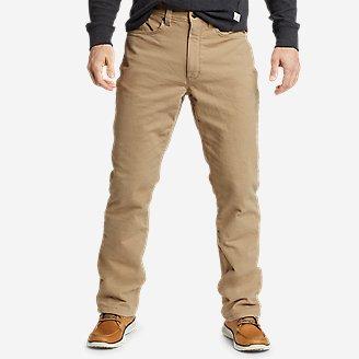 Men's Fleece-Lined Flex Mountain Jeans in Brown