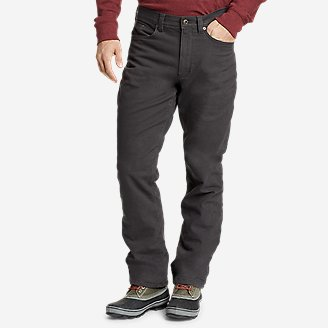 Men's Fleece-Lined Flex Mountain Jeans in Gray