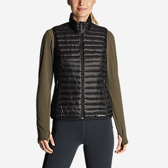 Women's Microlight Down Vest in Gray