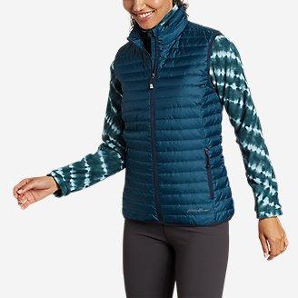 Women's Microlight Down Vest in Green