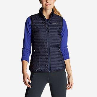 Women's Microlight Down Vest in Blue