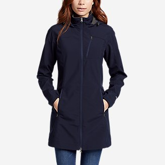 Women's Rocky Pass Trench Coat in Blue