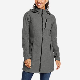 Women's Rocky Pass Trench Coat in Gray