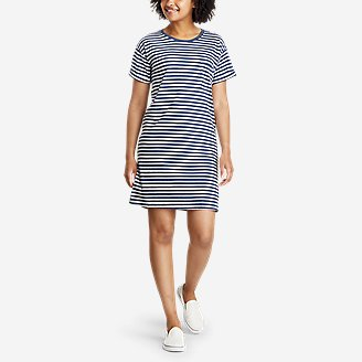 Women's Coast and Climb Short-Sleeve T-Shirt Dress in Blue