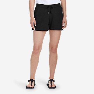 Women's Camp Fleece Shorts in Black