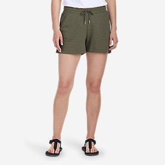 Women's Camp Fleece Shorts in Green