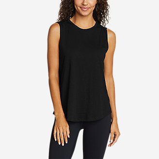 Women's Tryout 2.0 Ruched Muscle Tank Top in Black