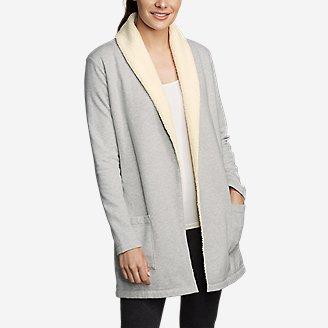 Women's Sherpa Cabin Cardigan in Gray