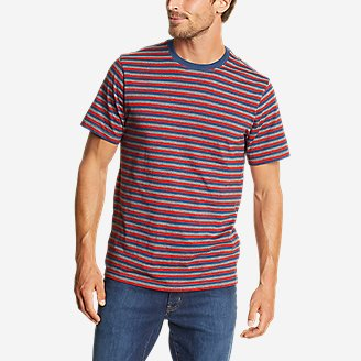 Men's Legend Wash Pro Short-Sleeve T-Shirt - Stripe in Red